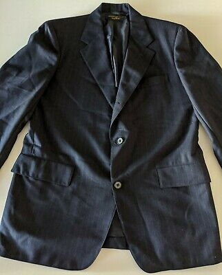 Brooks Brothers Mens Suit Jacket Blazer 41R Wool 2 Button 346 Navy Blue