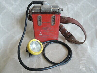 Vintage Oldham Miners Type G Lamp / Type T Battery w/ Belt