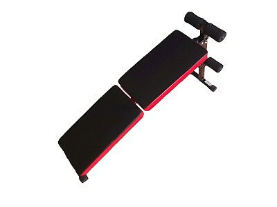 Bench Fitness Crunch Abdominal Gym Weights Training Adjustable Foldable