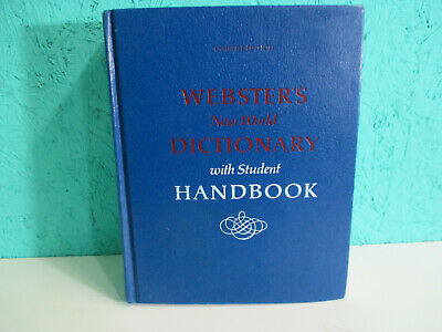 Websters New World Dictionary With Student Handbook Concise Edition 1974 VTG