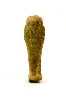 Egypt Ptolemaic Period brown-green faience shabti