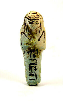 Egypt TIP  21-22th dynasty very rare blue faience shabti for Pa-Shed-meref