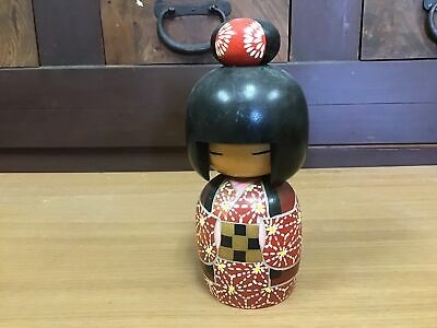 Y0964 OKIMONO Kokeshi Doll signed figurine Japanese antique statue figure Japan