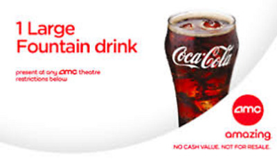5 AMC Large Drinks, FAST DELIVERY (PURCHASE LIMIT 2)