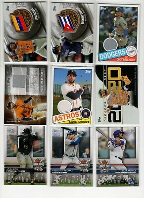 2020 Topps Series 1 Insert Jersey Relic Pick Your Card Player Complete Your Set