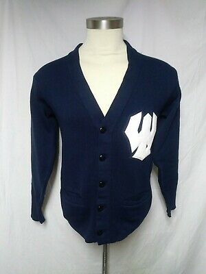 VTG Bristol Sweater Letterman Patch Mens Size 38