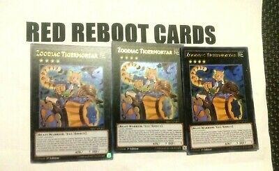 3x Zoodiac Tigermortar Yugioh Mint Ultra Rare Mp17