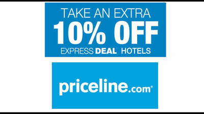 Priceline.com 10% Off promo code Express Deal Real discount 10% No limit of $50