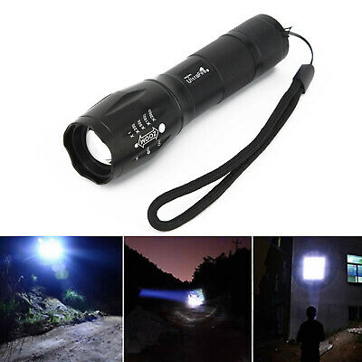 5000LM CREE-XML T6 LED Zoomable Poweful Flashlight Torch Light Super Bright Lamp