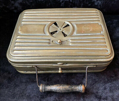 "Antique French Brass ""Stoker"" Carriage Foot/Hand Warmer"
