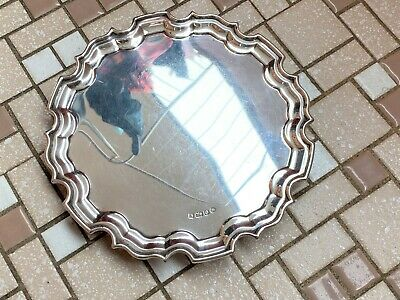 Sterling Silver Georgian Style Waiter Tray - Carrs - Sheffield - 1997
