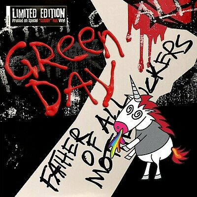 """Green Day """"father of all"""" Limited Edition """"cloudy""""-red Vinyl LP NEU Album 2020"""