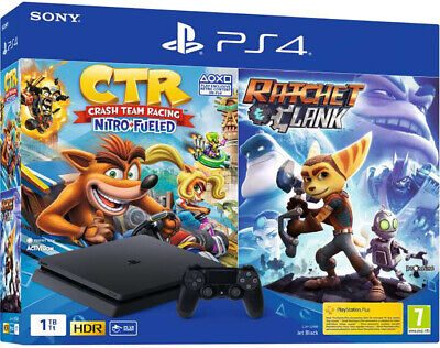 SONY PLAYSTATION 4 PS4 HITS 1TB F CHASSIS SLIM +Uncharted+Ratchet+The Last Of Us