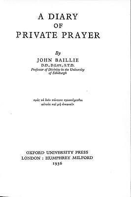 A Diary of Private Prayer, John Baillie, Good Condition Book, ISBN