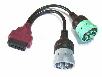VOCOM 6 Pin J1708 + 9 Pin J1939 to 16 Pin OBD2 88890300 type Adapter Cable Volvo