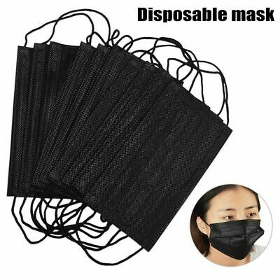 50 PCS Disposable Face Mask Surgical Medical Dental Anti Dust Industrial 3-Ply