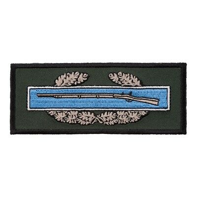 "BLUE COMBAT INFANTRYMAN BADGE 4/"" x 1.5/"" iron on patch Military F26 4244"