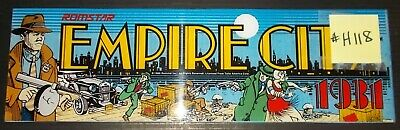 Empire City:1931 Arcade Machine Game Overhead Marquee Header #Ec106 By Romstar