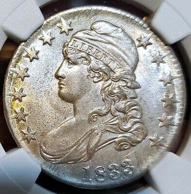 ~☆WOW MS-62☆~ 1833 Capped Bust Half Dollar NGC  Nice looking coin LOTS of luster