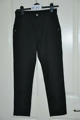 NEXT boy's black slim leg trousers, age 12, height 152 cm : In good condition.