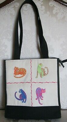 """Kitty Cat Tote Purse Made by """"ELKA"""" Excellent Condition"""