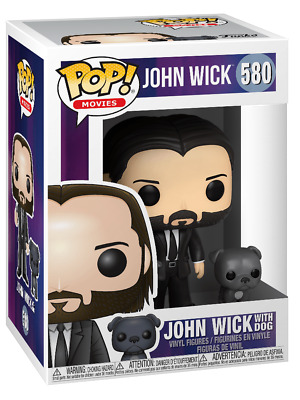 Funko Pop! John Wick with Dog Keanu Reeves Movies w/ Protector  IN STOCK