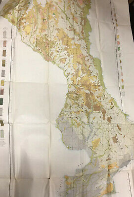 Large 1906 Florida Escambia County US Dept of Agriculture Soil Survey Color Map