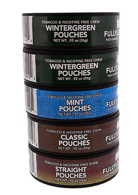 Fully Loaded Chew Tobacco and Nicotine Free Sampler Pack Bullseye Pouches 5 V...