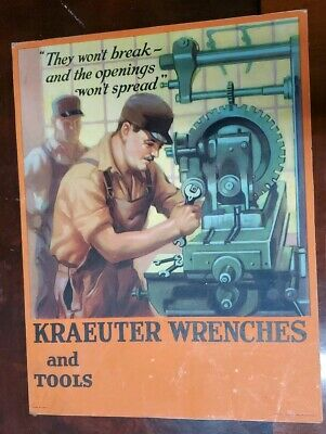 Kraeuter Wrenches And Tools Stand Up Poster