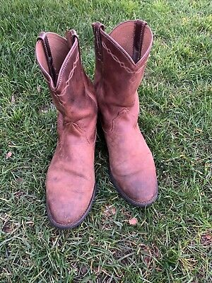 ARIAT Cowboy Boots 10.5 D Men's Oiled Brown LEATHER Saddle WESTERN