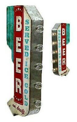 Beer Served Ice Cold Off The Wall Tin Sign