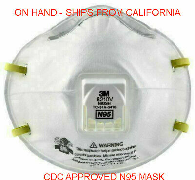 SEALED 3M 8210V N95 Particulate Respirator W/Exhalation Valve 1 mask made in USA