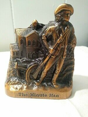 "Vintage Banthrico Inc Metal Coin Bank ""The Minute Man"""
