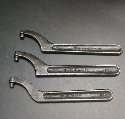 3 USA Made WILLIAMS Pin Spanner Wrench No. 461 463 & 464   Machinist Mill Lathe