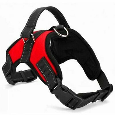 No Pull Adjustable Dog Pet Vest Harness Nylon Collar Large Safety Accessories