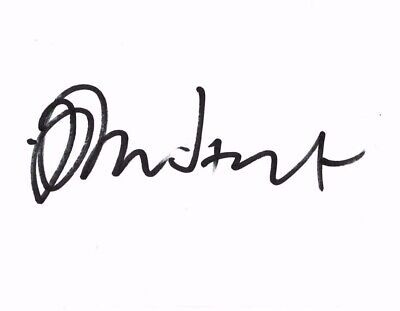 John Hurt Signed White Card for mounting 6 inches by 4 inches Alien Elephant Man
