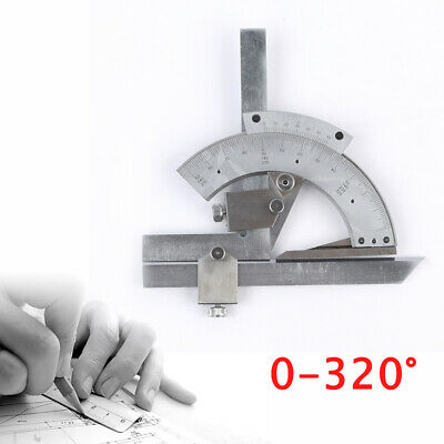 320 Degree Universal Bevel Protractor Machinist Angle Measurement Accurate Tool