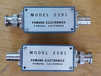 Two Pomona 2391 Aluminum Boxes With Cover, BNC Male & Female Connectors