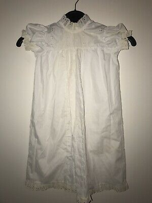 Vintage White Lace Baptism Christening Gown Madonna By Haddad Infant Baby
