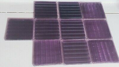 10 Vintage Purple Luxfer Frank Lloyd Wright Glass Sawtooth Architectural Tiles