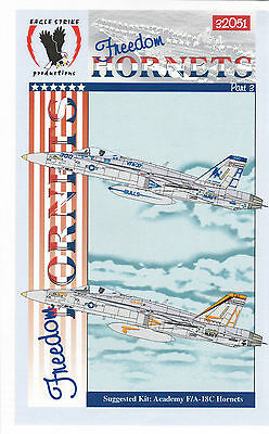Eagle Strike Decals 1:48 F//A-18 Freedom Hornets Part I Decal Set #48127
