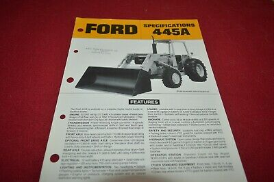 Ford 445A Tractor Loader Dealer's Brochure GDSD8 ver2