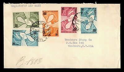 Dr Who 1963 Haiti To Usa Registered Air Mail C165511