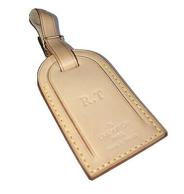 100% Authentic Louis Vuitton Name Tag w/ RT initials LARGE 🇫🇷