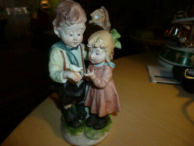 Original Arnart Creation Japan Porcelain VTG Boy&Girl/ Figurine Signed A Benni
