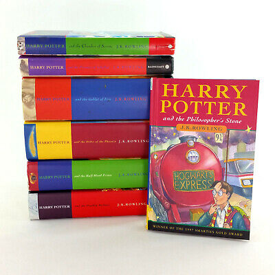 Harry Potter Book Complete Series 1-7 Hardcover Canadian 1st Edition Set UK Text