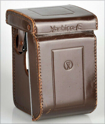 Yashica E Fitted Leather Case Dark Brown