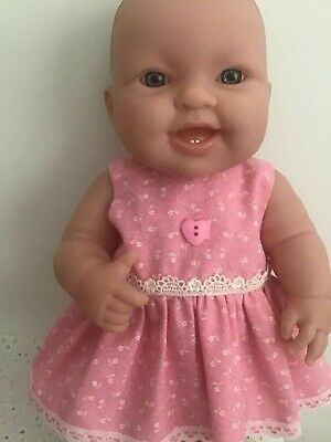 Handmade Dolls clothes for 36cm - 14in Berenguer Doll ~ Pink floral Dress