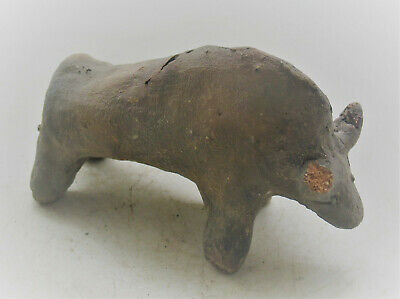 Neolithic Clay Animal Figurine Vinca Boar Statue Rare