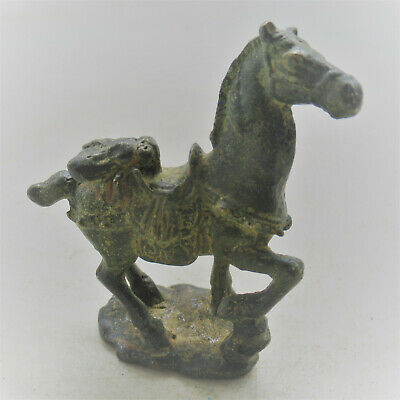 British Found Ancient Celtic Bronze Horse Figurine Circa 100Bc-100Ad Superb